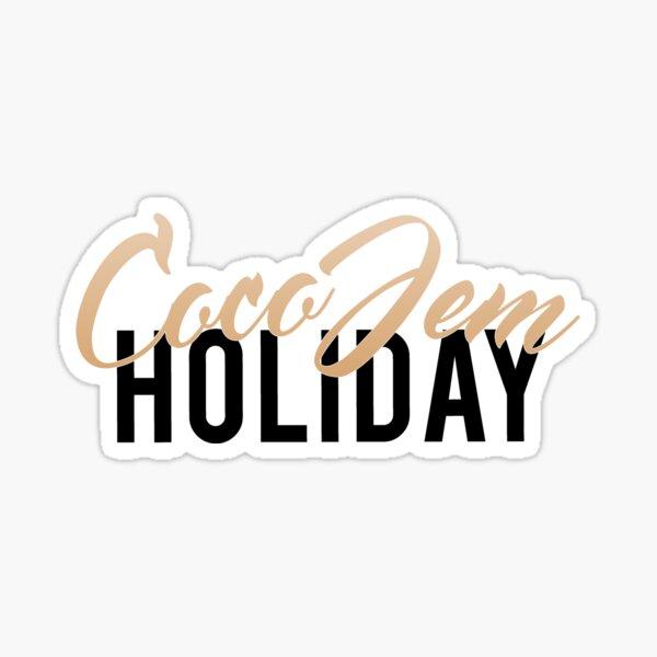 Coco Jem Holiday - Name Design - Gold/Black Sticker