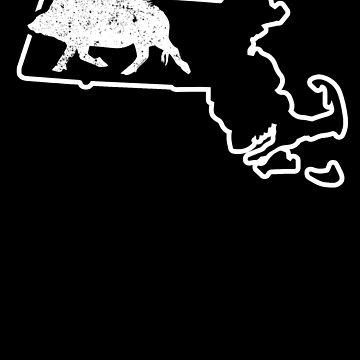 Feral Hog Trapping Massachusetts Wild Boar T Shirt by shoppzee