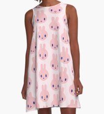 Häschen Pop Pink A-Linien Kleid