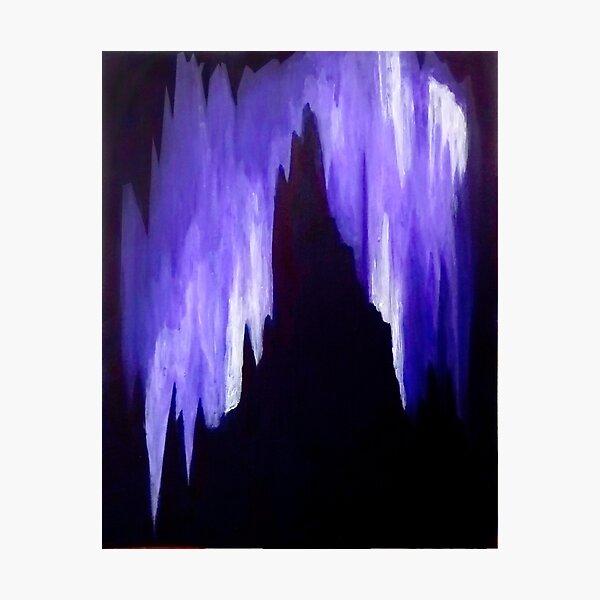 Violet Cavern Photographic Print