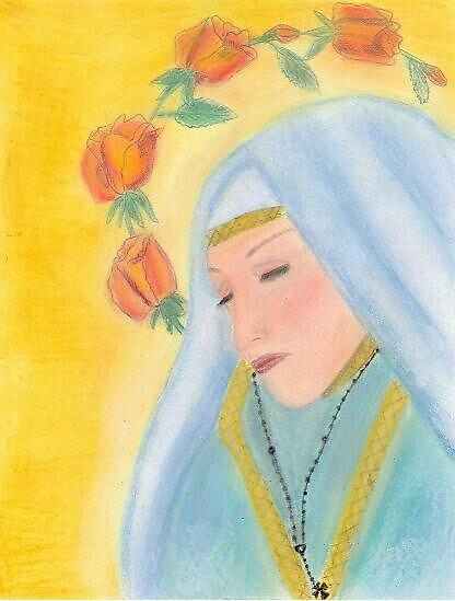 Our Lady of the Roses in Color by essieang