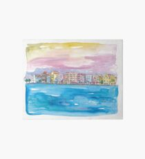 Willemstad Curacao - Caribbean Sunset Art Board