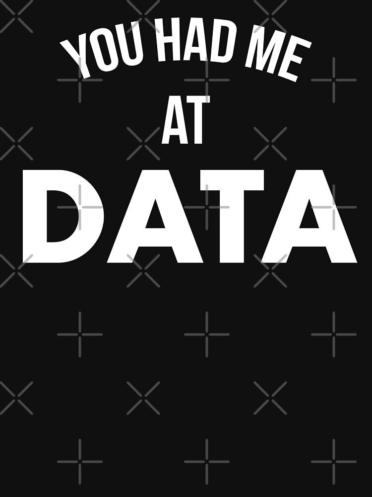 You Had Me At Data by teesaurus