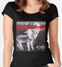 Enough Is Enough Ban Live Export Now! Fitted Scoop T-Shirt