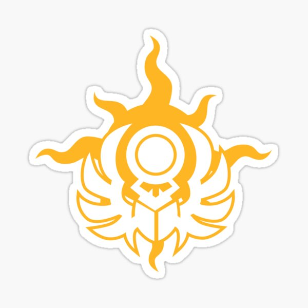 Sun Scarab Sticker