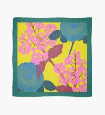 Portland Flora and Fauna in Canary Yellow, Teal, Pink & Burgundy by Jessica Poundstone Scarf