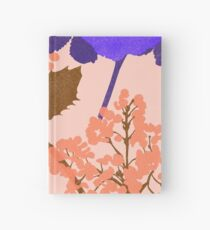 Portland Flora and Fauna in Blush Pink, Peach & Ultraviolet by Jessica Poundstone Hardcover Journal