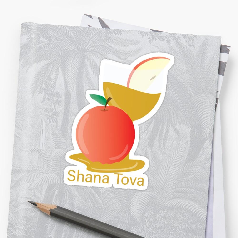 Rosh Hashanah Greeting Shana Tova Stickers By Sigdesign Redbubble