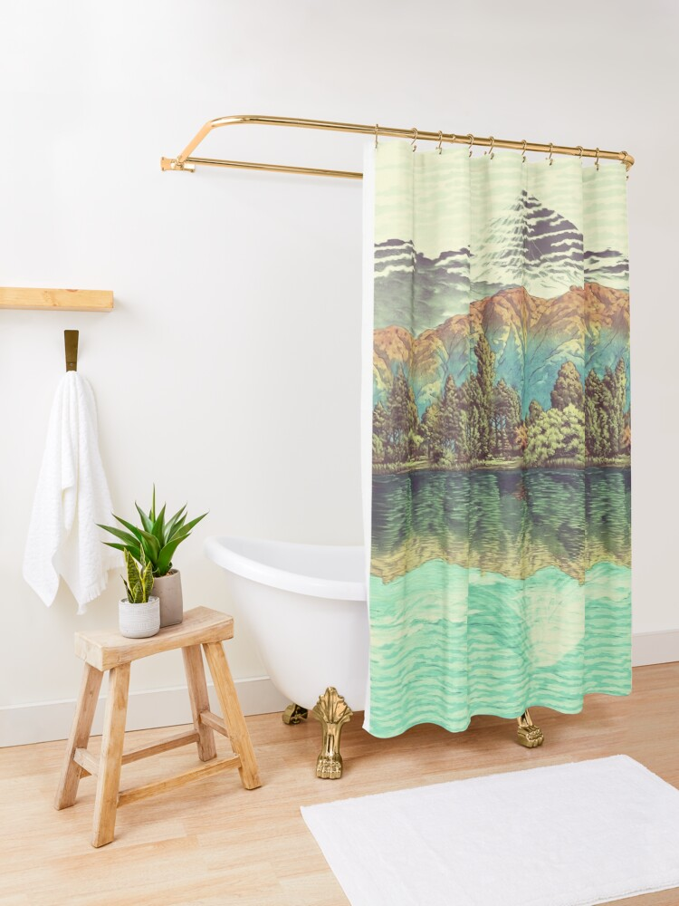 Alternate view of The Unknown Hills in Kamakura Shower Curtain