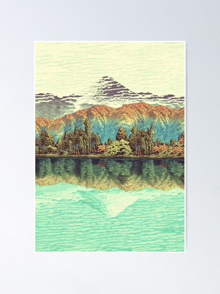 Alternate view of The Unknown Hills in Kamakura Poster