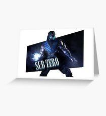 Mortal Kombat - Sub-Zero Greeting Card