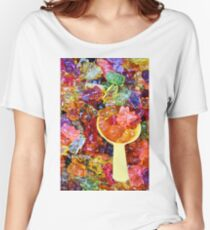 colorful sweet bears gummy closeup  Women's Relaxed Fit T-Shirt