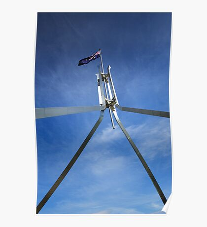 Flagpole at Parliament House - Canberra Poster