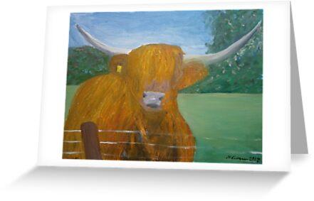 Highland Coo by CrossanArt