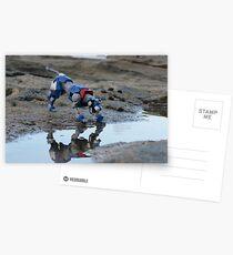 voltron blue lion reflection  Postcards