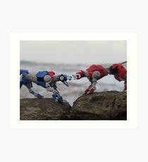 klance voltron lions red and blue Art Print
