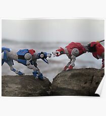 klance voltron lions red and blue Poster