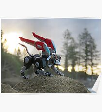 voltron black lion sunset Poster