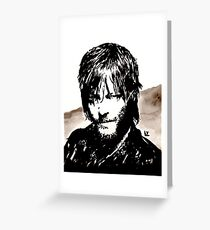 Walking Dead Daryl Dixon Greeting Card