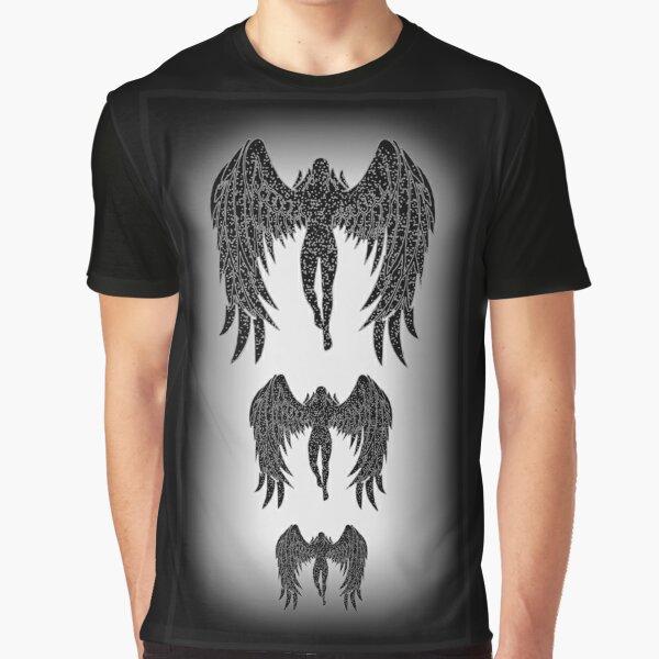 Angel Emanation blagraywhite Graphic T-Shirt
