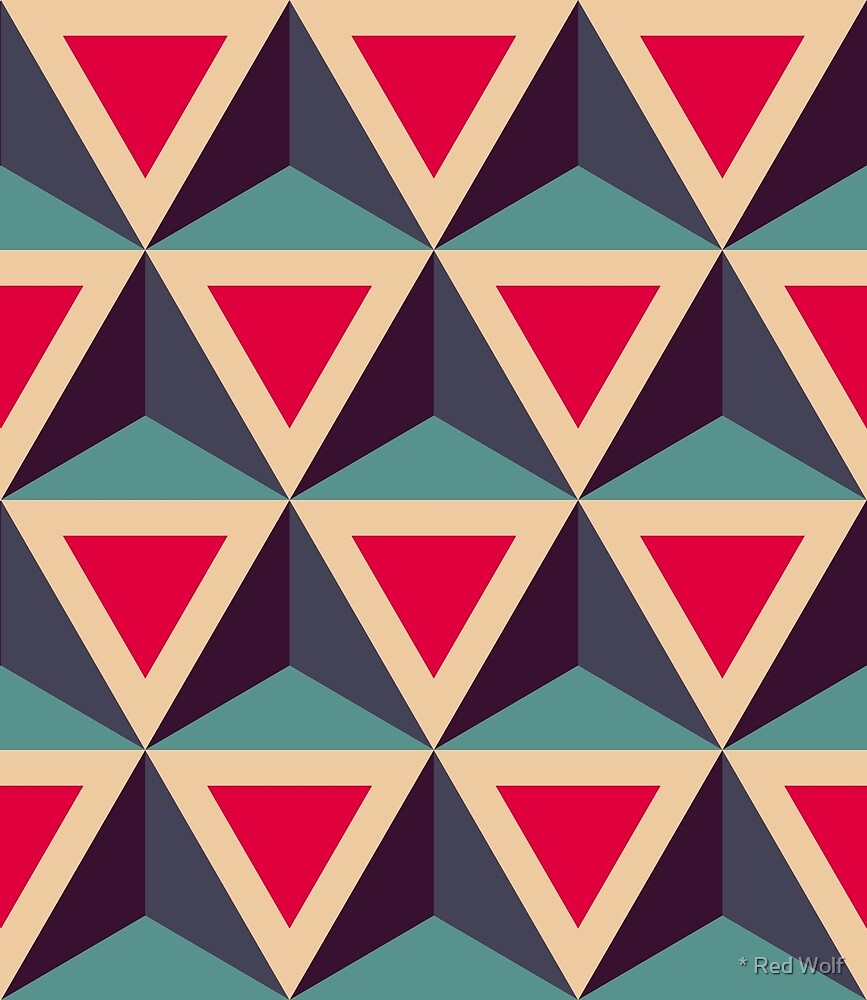 Geometric Pattern: Triangle: Blue/Red by * Red Wolf