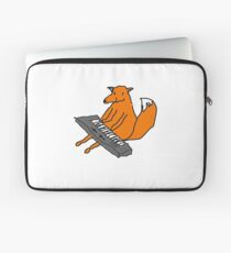 Happy little fox playing his keyboard Laptop Sleeve