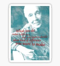 Pegatina Jane Goodall Cita 2