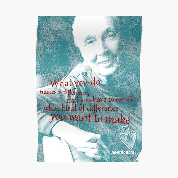 Jane Goodall Quote 2 Poster