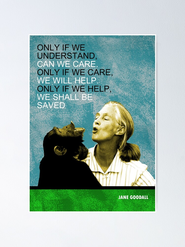 Alternate view of Jane Goodall Quote Poster