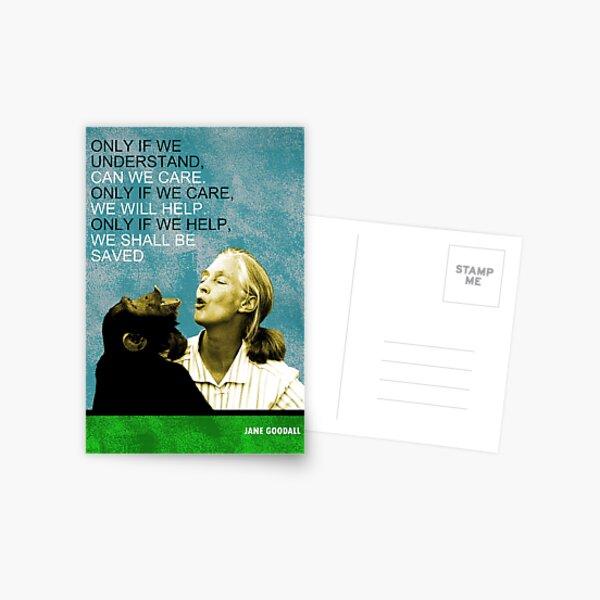 Jane Goodall Quote Postcard