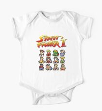 Street Fighter 2 Characters Pixel Art One Piece - Short Sleeve