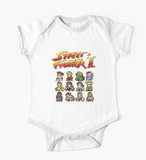 Street Fighter 2 Characters Pixel Art One Piece - Short Sleeve
