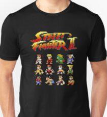 Street Fighter 2 Characters Pixel Art Unisex T-Shirt