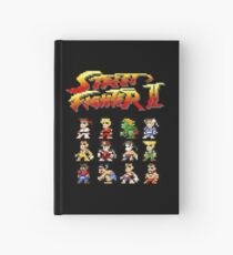 Street Fighter 2 Characters Pixel Art Hardcover Journal