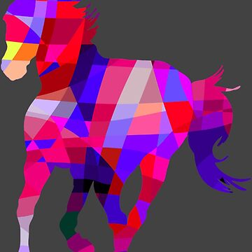 Geometric Cool Horse Colorful Design by 700level