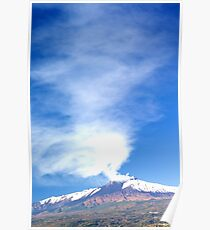 Etna Blowing  Poster