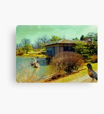 Bird + House Canvas Print