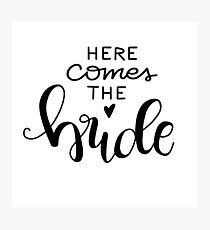 Here comes the bride - black Photographic Print