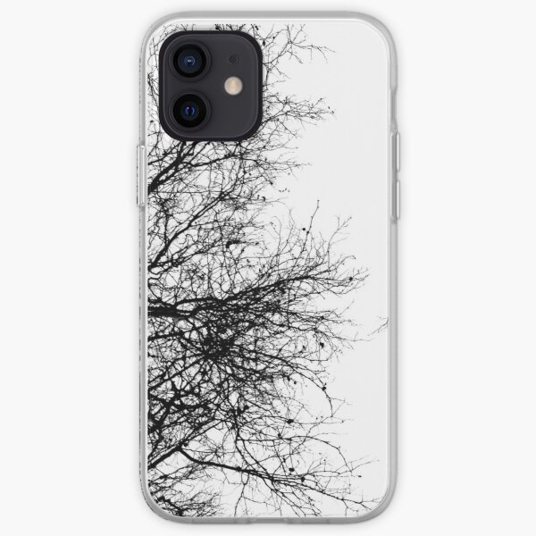 Black and White Trees iPhone Soft Case