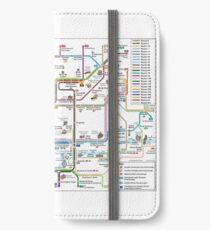 Central London Bus Map - Key Bus Routes - HD - England iPhone Wallet/Case/Skin