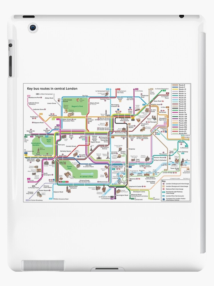 Map Bus London.Central London Bus Map Key Bus Routes Hd England Ipad Case Skin By Superfunky