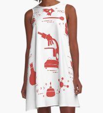 Chemistry scientific, education elements. A-Line Dress