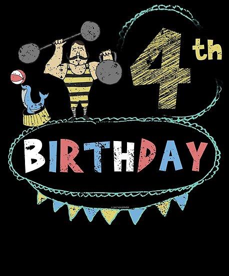 Circus Theme Strongman 4th Birthday By Shoppzee