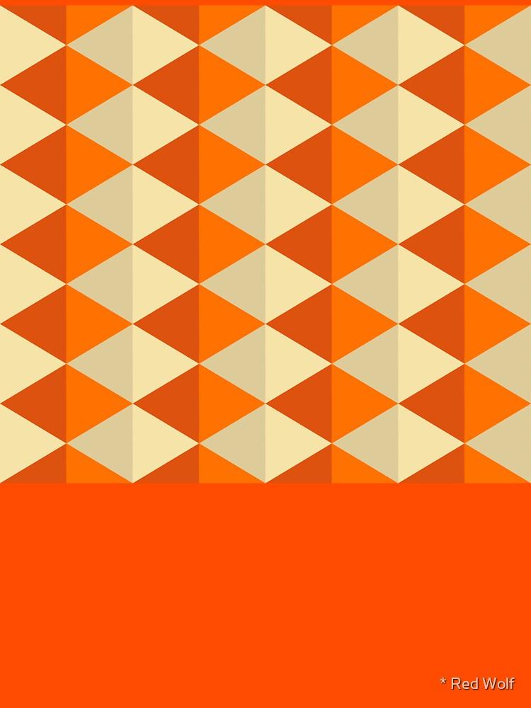 Geometric Pattern: Split Diamond: Orange by redwolfoz