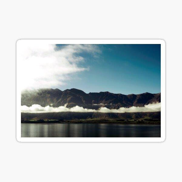 Cloudy dark mountains Sticker