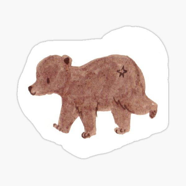 Cute Bear Illustration Sticker