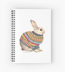 Bunny in a Sweater Spiral Notebook