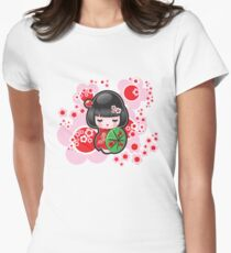 Japanese Doll Womens Fitted T-Shirt