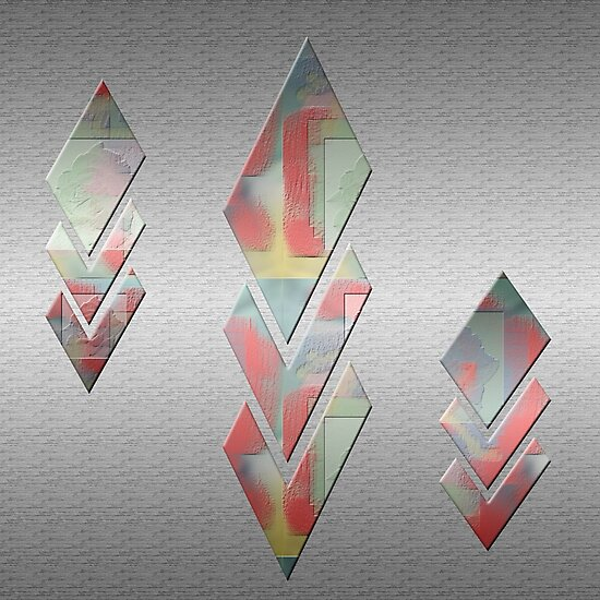 Abstract Diamonds Digital Art Design By Aimee L Maher by AimeeLMaher