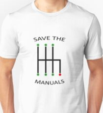 Shift manual transmission gears car gift idea Unisex T-Shirt